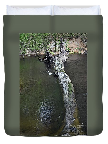 Duvet Cover featuring the photograph Footbridge by Skip Willits