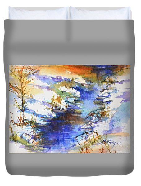 For Love Of Winter #3 Duvet Cover by Betty M M Wong