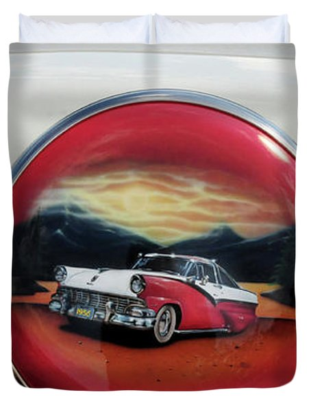Ford Fairlane Rear Duvet Cover