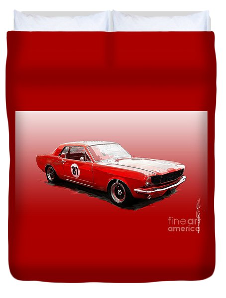 Ford Mustang Duvet Cover
