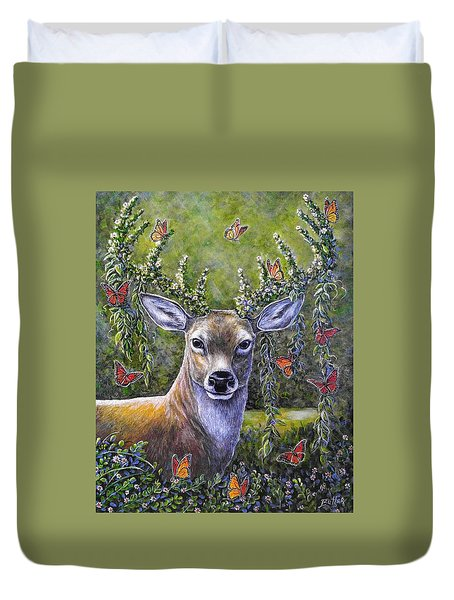 Forest Monarch Duvet Cover by Gail Butler