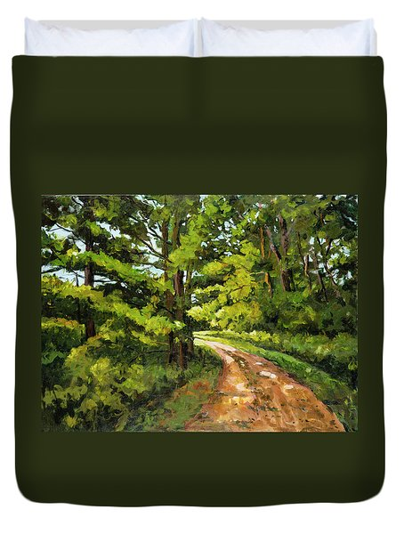 Forest Pathway Duvet Cover