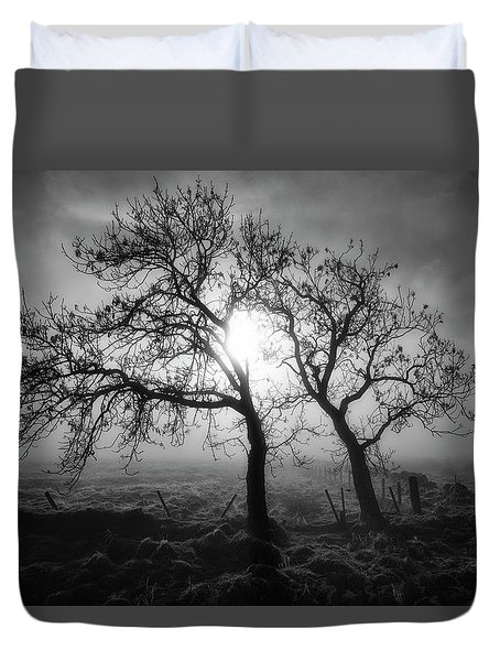 Duvet Cover featuring the photograph Forever Buddies by Jeremy Lavender Photography
