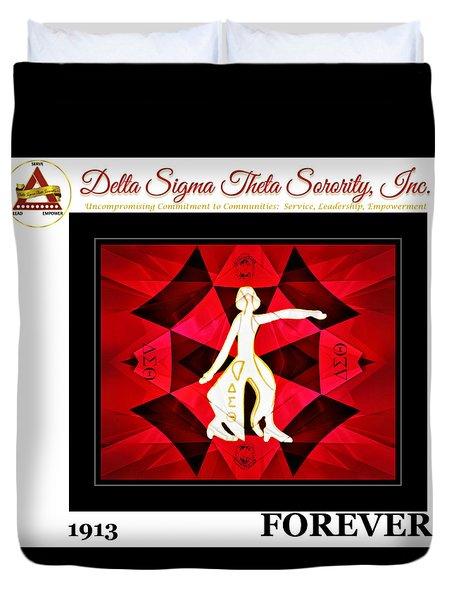 Forever Delta Duvet Cover by Lynda Payton