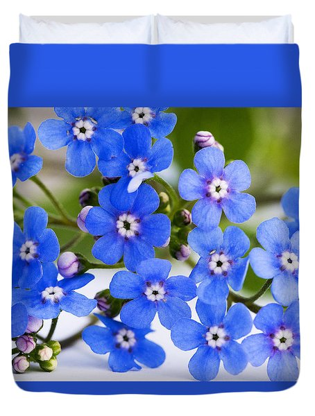 Duvet Cover featuring the photograph Forget-me-not by Chevy Fleet
