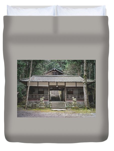 Forrest Shrine, Japan Duvet Cover