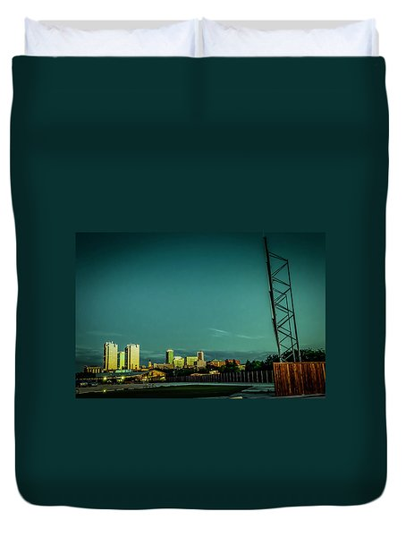 Fortworth Texas Cityscape Duvet Cover