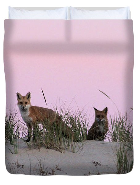 Fox And Vixen Duvet Cover