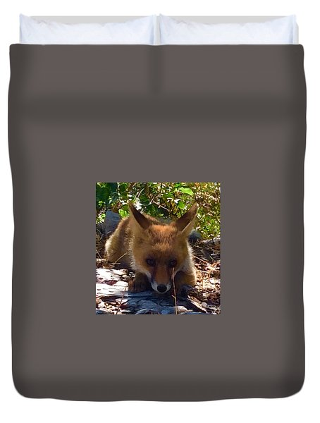 Duvet Cover featuring the photograph Fox Joy by Colette V Hera Guggenheim