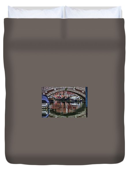 Framed Gondolas Duvet Cover