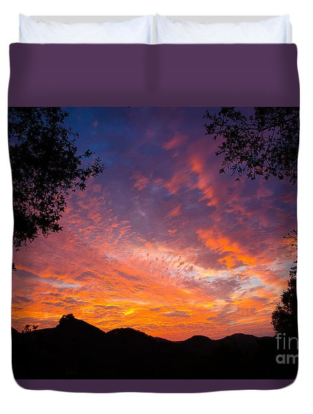 Framed Sunrise Duvet Cover