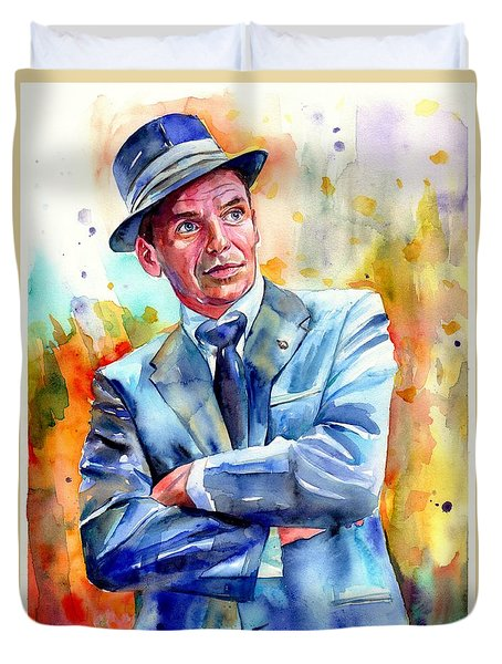 Frank Sinatra Young Painting Duvet Cover