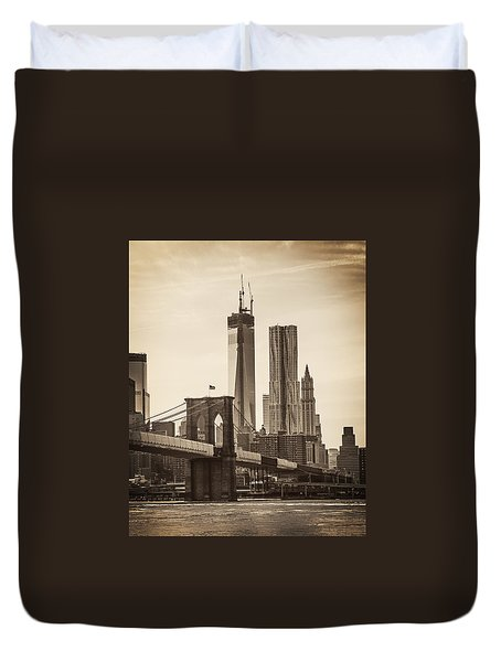 Freedom Tower Rising Duvet Cover