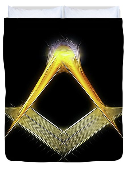 Freemason Symbol By Raphael Terra Duvet Cover