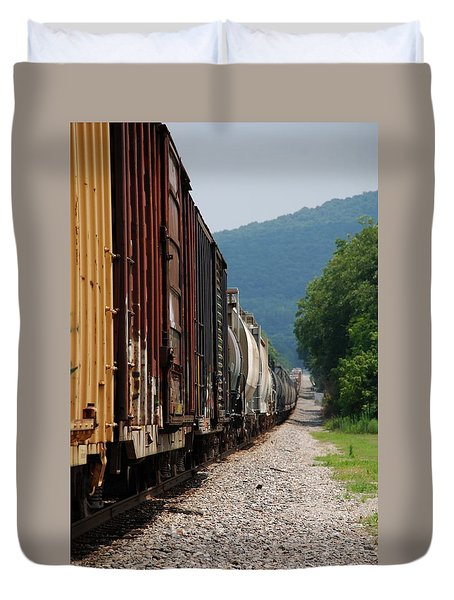 Freight Train Duvet Cover