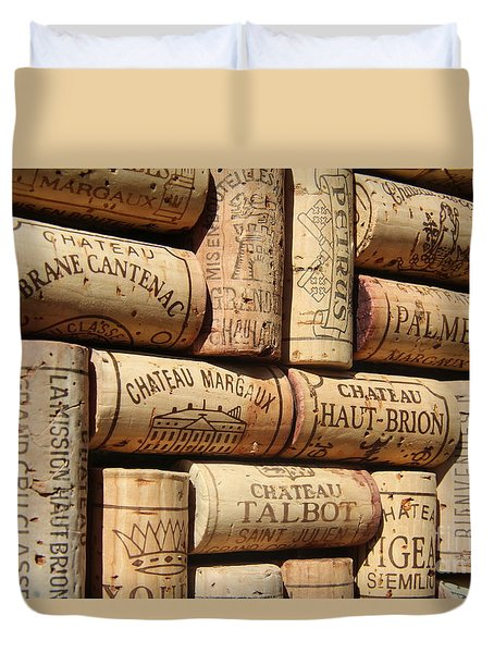 French Wines Duvet Cover by Anthony Jones