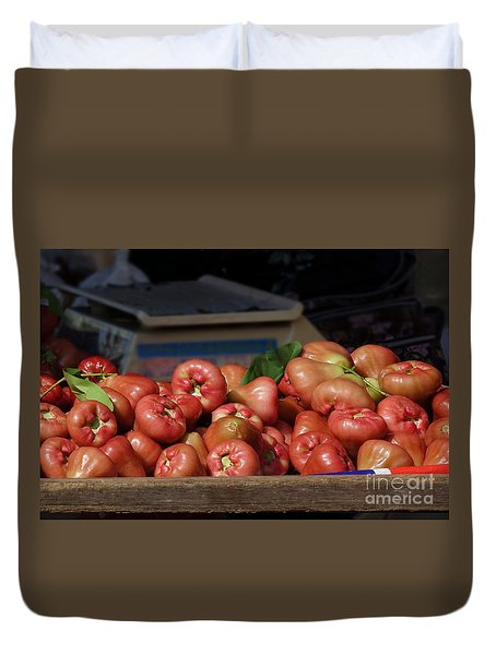 Fresh Wax Apples Or Bell Fruits Duvet Cover