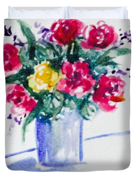Friday Roses  Duvet Cover