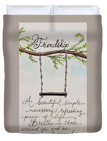 Friendship Duvet Cover by Elizabeth Robinette Tyndall
