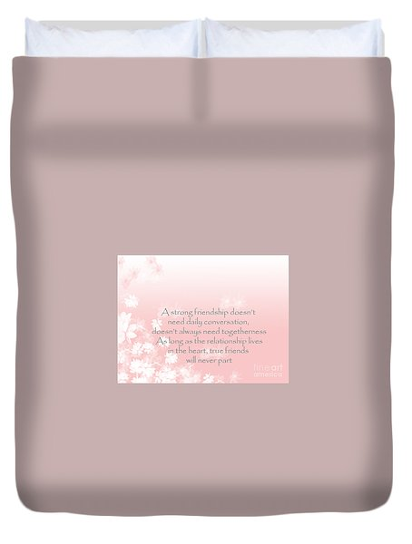 Duvet Cover featuring the digital art Friendship by Trilby Cole