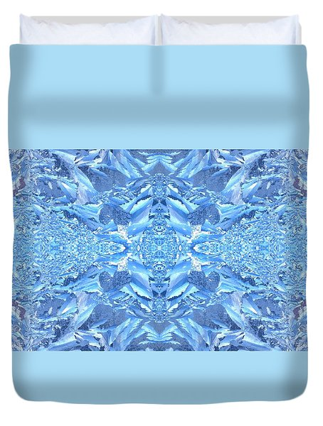 Frost Feathers Duvet Cover by Marianne Dow