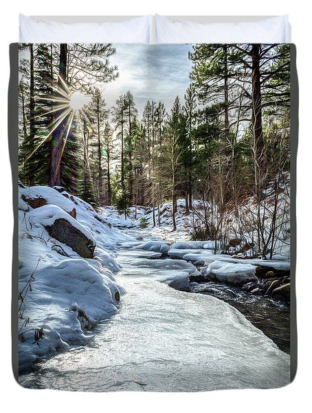 Frozen Creek Duvet Cover