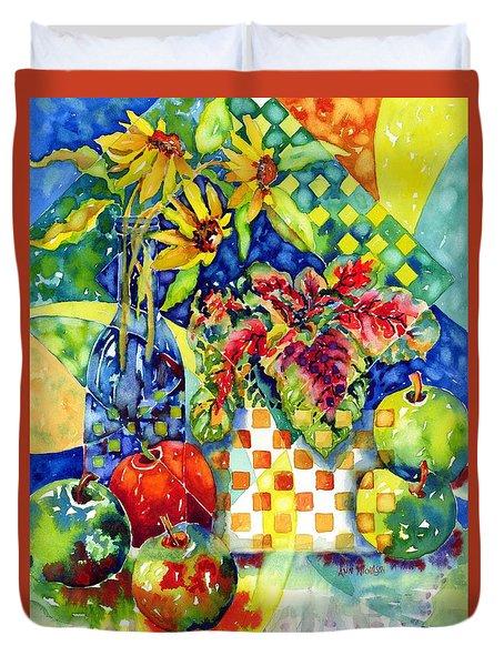 Fruit And Coleus Duvet Cover