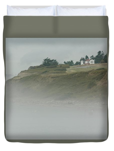 Ft. Casey Lighthouse Duvet Cover by Tony Locke