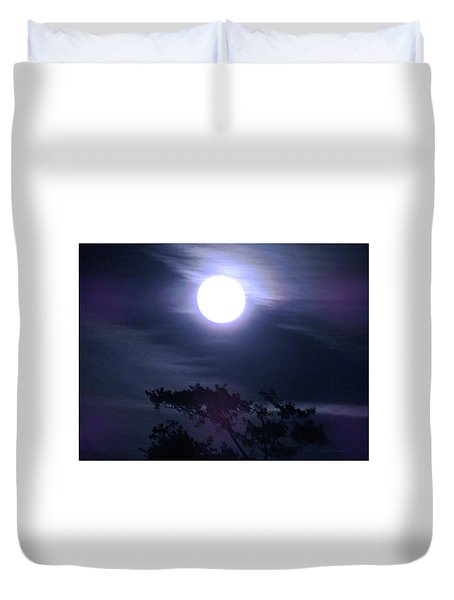 Full Moon Falling Duvet Cover