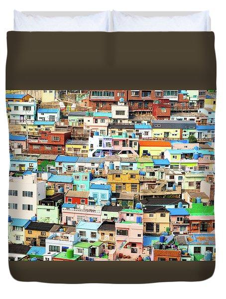 Gamcheon Culture Village Duvet Cover