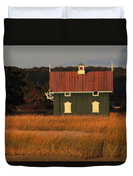 Gamecock Cottage Stony Brook New York Duvet Cover