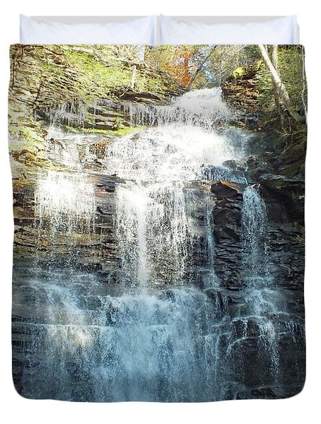 Ricketts Glen Ganoga Falls Four Duvet Cover