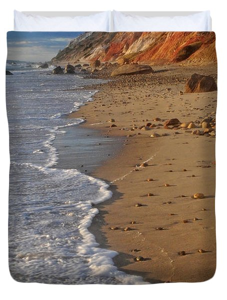 Gayhead Cliffs Marthas Vineyard Duvet Cover