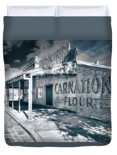 Duvet Cover featuring the photograph General Store by Wayne Sherriff