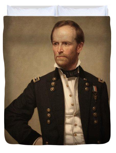General William Tecumseh Sherman Duvet Cover