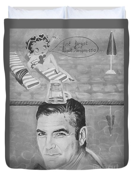 George Clooney Duvet Cover by Jeepee Aero