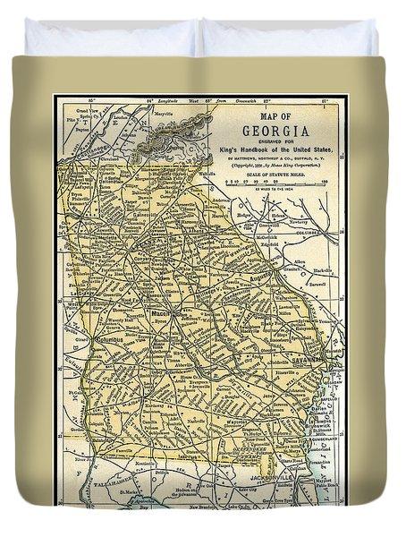 Georgia Antique Map 1891 Duvet Cover