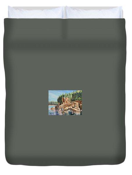 Georgian Beauty Duvet Cover by Heather Kertzer