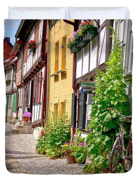 German Old Village Quedlinburg Duvet Cover