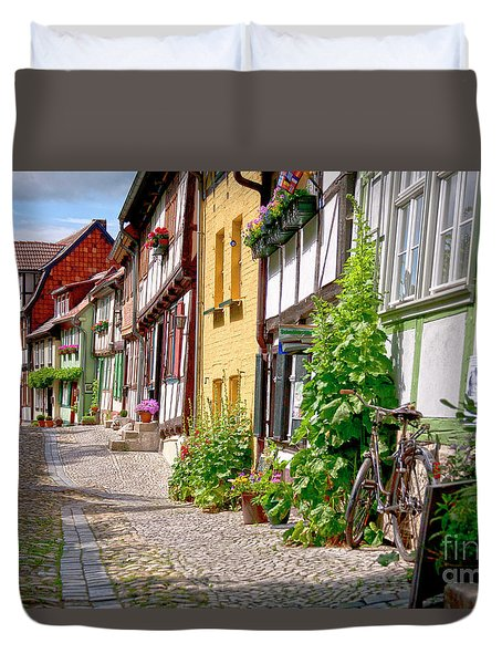 German Old Village Quedlinburg Duvet Cover