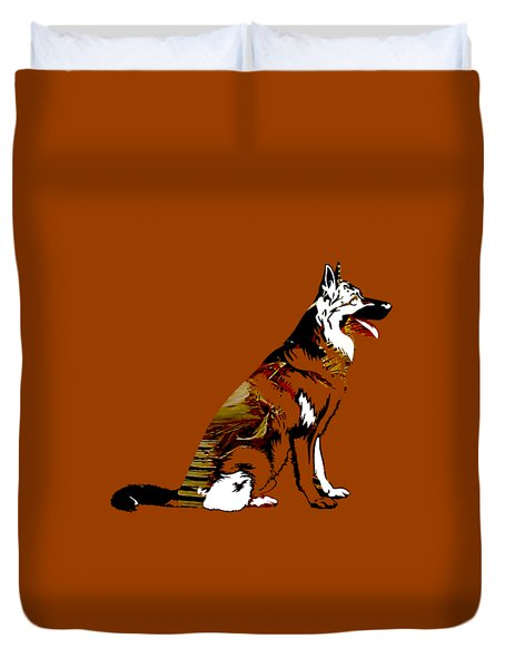 German Sheperd Collection Duvet Cover by Marvin Blaine