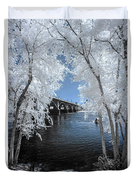 Gervais St. Bridge In Surreal Light Duvet Cover