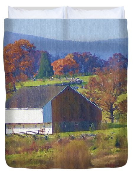 Gettysburg Barn Duvet Cover by Bill Cannon