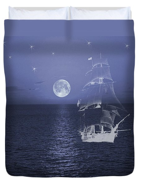 Ghost Ship Duvet Cover