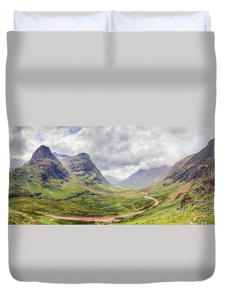 Glencoe Panorama Duvet Cover by Ray Devlin