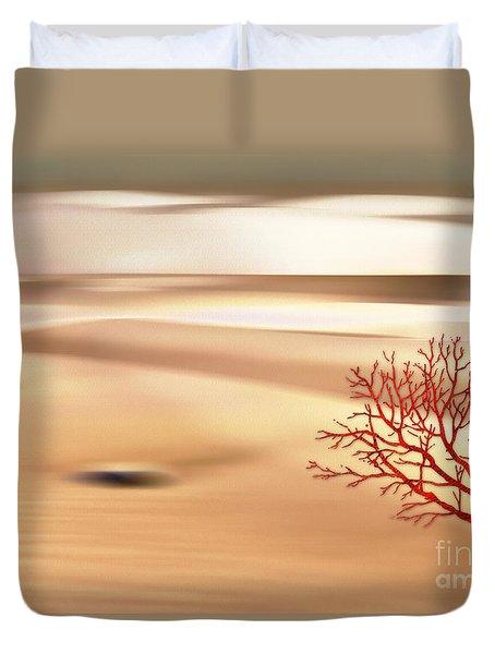 Duvet Cover featuring the digital art Global Warming by Klara Acel