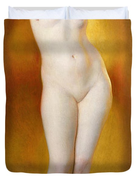 Glow Of Gold Gleam Of Pearl Duvet Cover by William McGregor Paxton