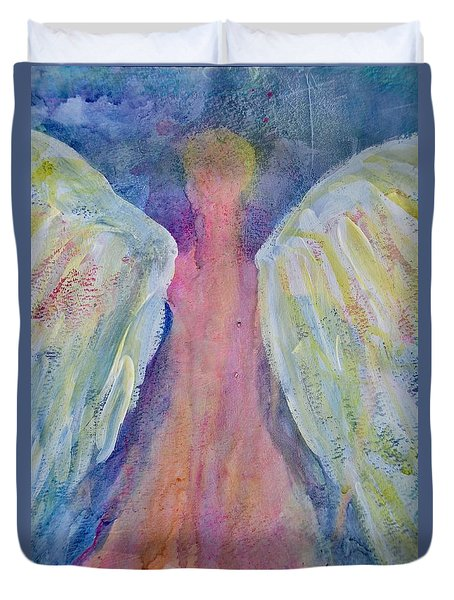Glowing Angel Duvet Cover by Jeanne MCBRAYER