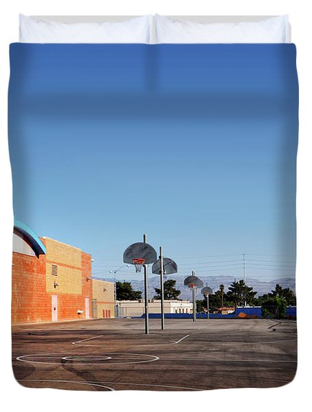 Goals In Perspectives Duvet Cover