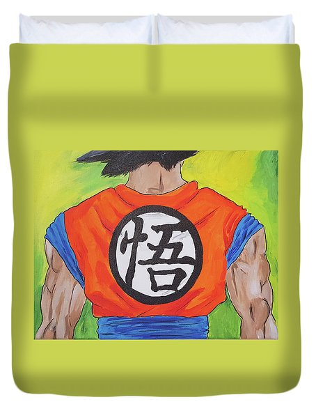 Goku Kanji Duvet Cover